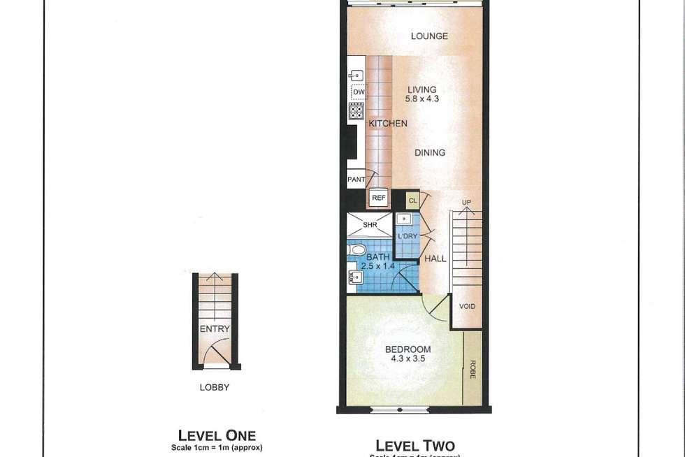 Floorplan of Homely apartment listing, 221/2-4 Powell Street, Waterloo NSW 2017