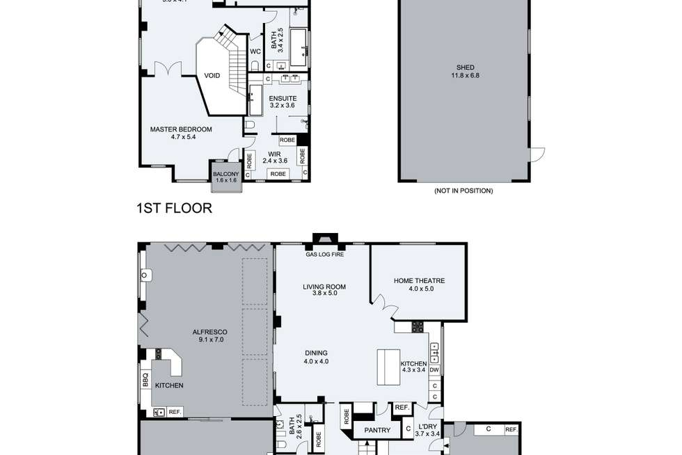 Floorplan of Homely house listing, 12 Buchanan Court, Taylors Lakes VIC 3038