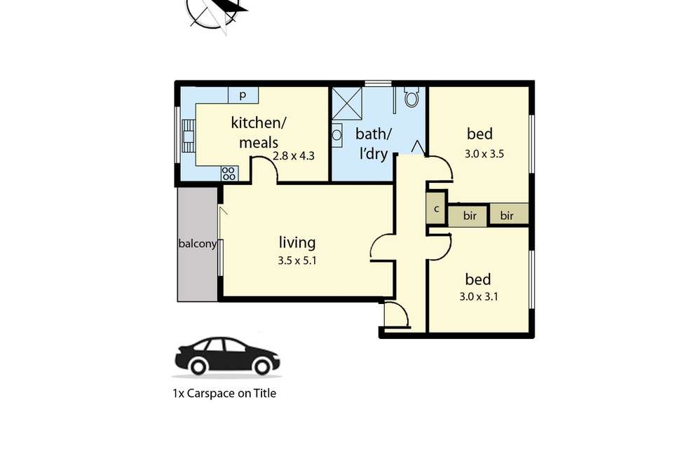 Floorplan of Homely apartment listing, 10/116 Princes Highway, Dandenong VIC 3175