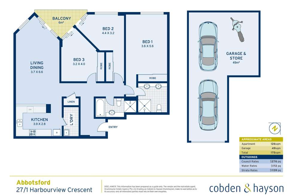 Floorplan of Homely apartment listing, 27/1 Harbourview Crescent, Abbotsford NSW 2046