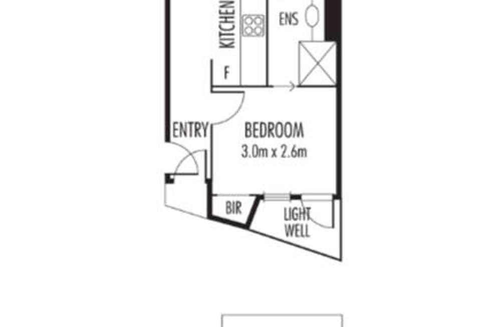 Floorplan of Homely apartment listing, 8/198 Peel Street, North Melbourne VIC 3051
