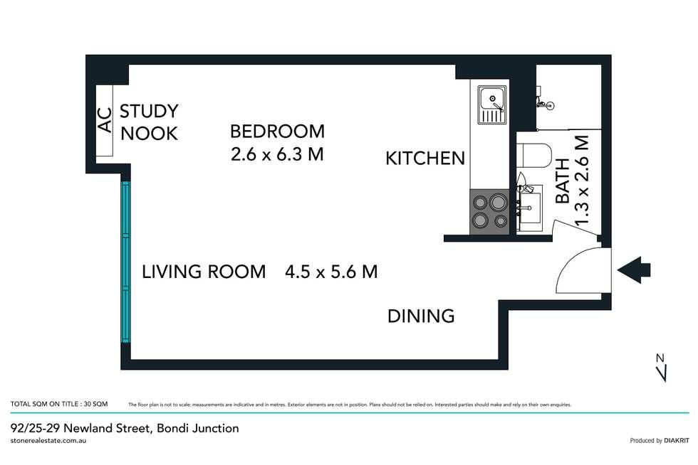 Floorplan of Homely apartment listing, 520/29 Newland Street, Bondi Junction NSW 2022