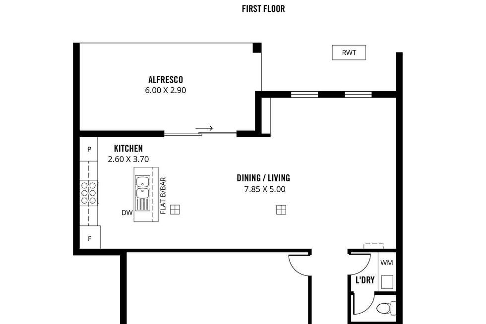 Floorplan of Homely townhouse listing, 2/5 John Street, Firle SA 5070