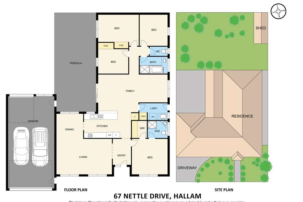 Floorplan of Homely house listing, 67 Nettle Drive, Hallam VIC 3803
