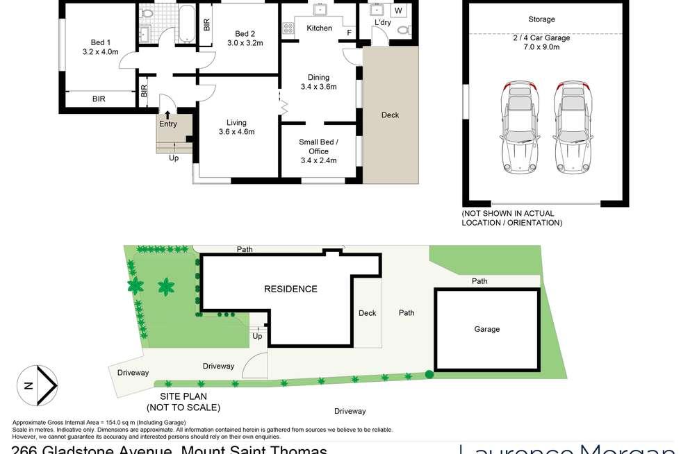Floorplan of Homely house listing, 266 Gladstone Avenue, Mount Saint Thomas NSW 2500