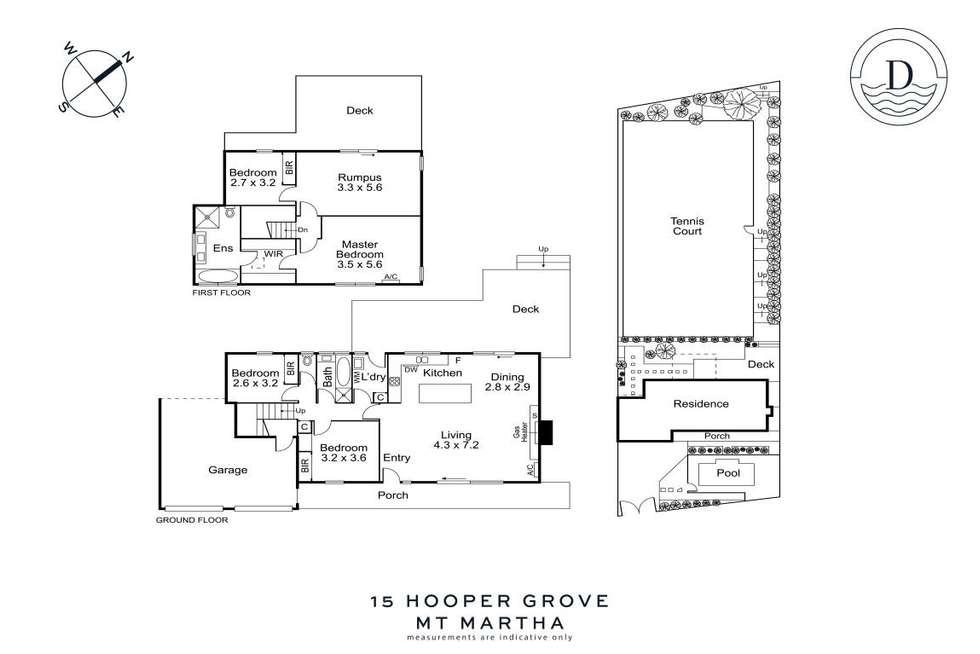 Floorplan of Homely house listing, 15 Hooper Grove, Mount Martha VIC 3934
