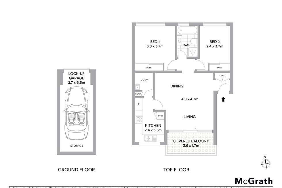 Floorplan of Homely apartment listing, 6/54-58 Solander Street, Monterey NSW 2217