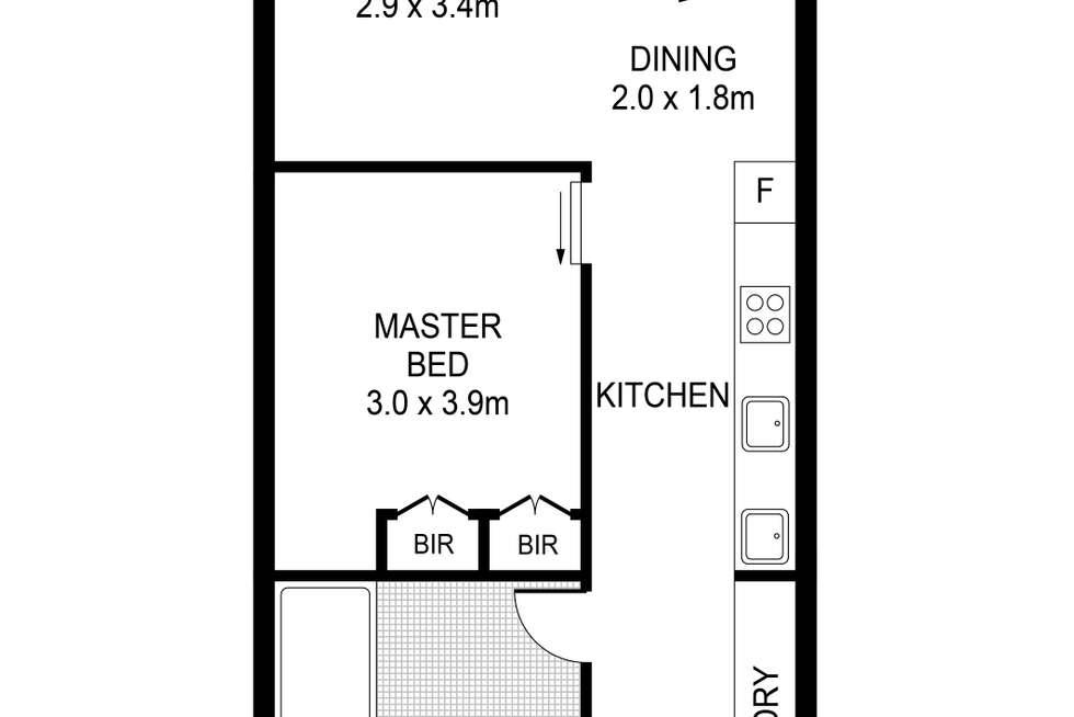 Floorplan of Homely apartment listing, 1804/33 Rose Lane, Melbourne VIC 3000
