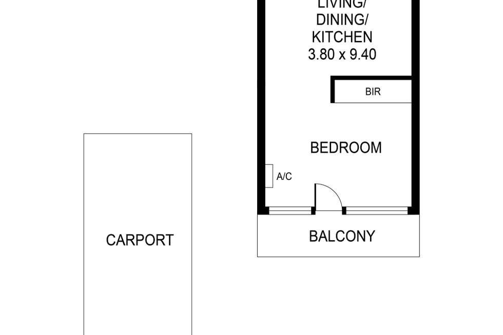 Floorplan of Homely unit listing, 5/99 Buxton Street, North Adelaide SA 5006