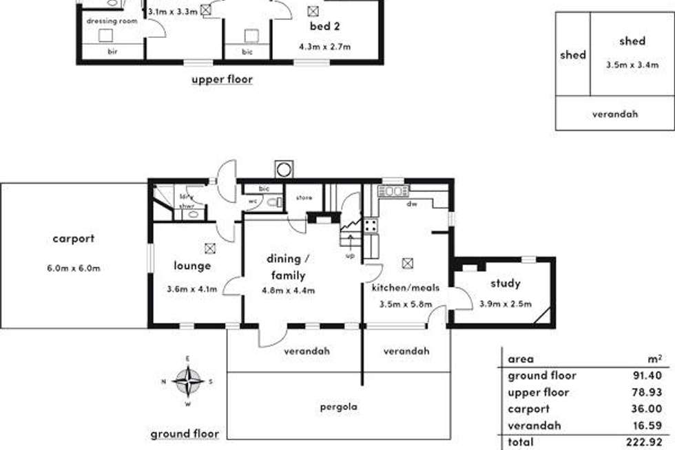 Floorplan of Homely house listing, 32 Carrick Hill Drive, Springfield SA 5062