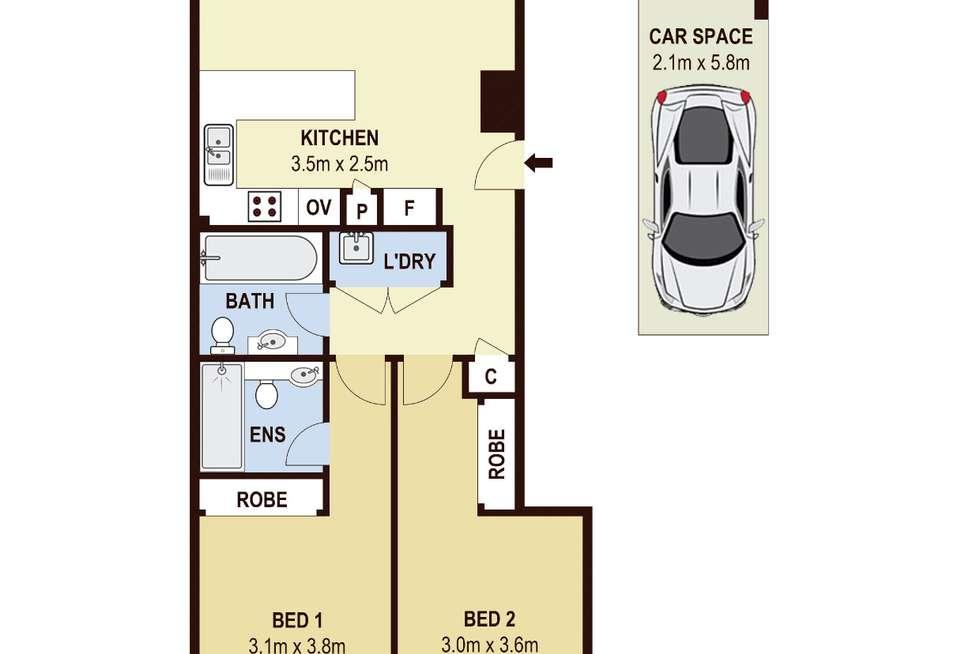 Floorplan of Homely apartment listing, 10/105 Church Street, Parramatta NSW 2150