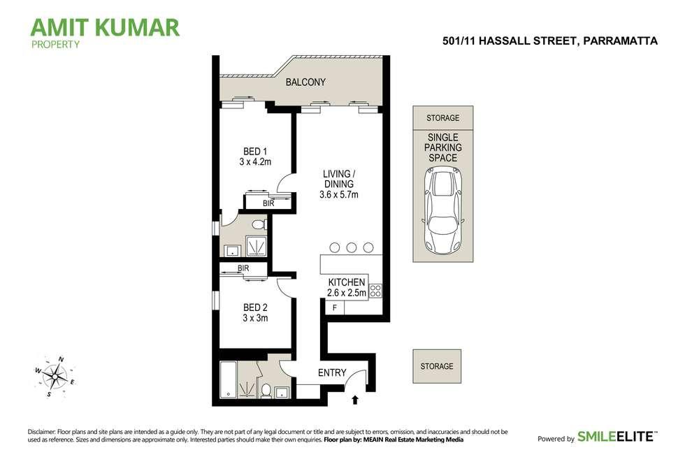Floorplan of Homely apartment listing, 501/11 Hassall Street, Parramatta NSW 2150