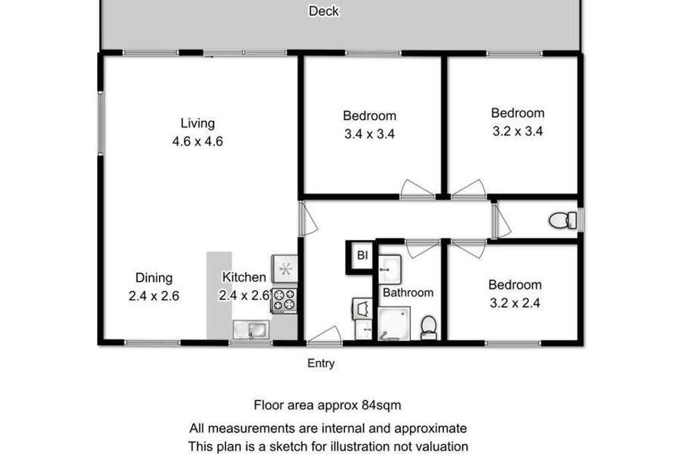 Floorplan of Homely house listing, Unit 8/6955 Arthur Highway, Port Arthur TAS 7182
