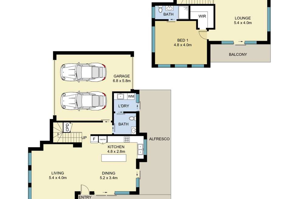 Floorplan of Homely townhouse listing, 1/96 Robsons Road, Keiraville NSW 2500