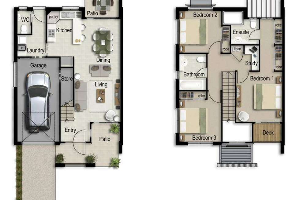 Floorplan of Homely townhouse listing, 8/2-24 Macarthy Road, Marsden QLD 4132