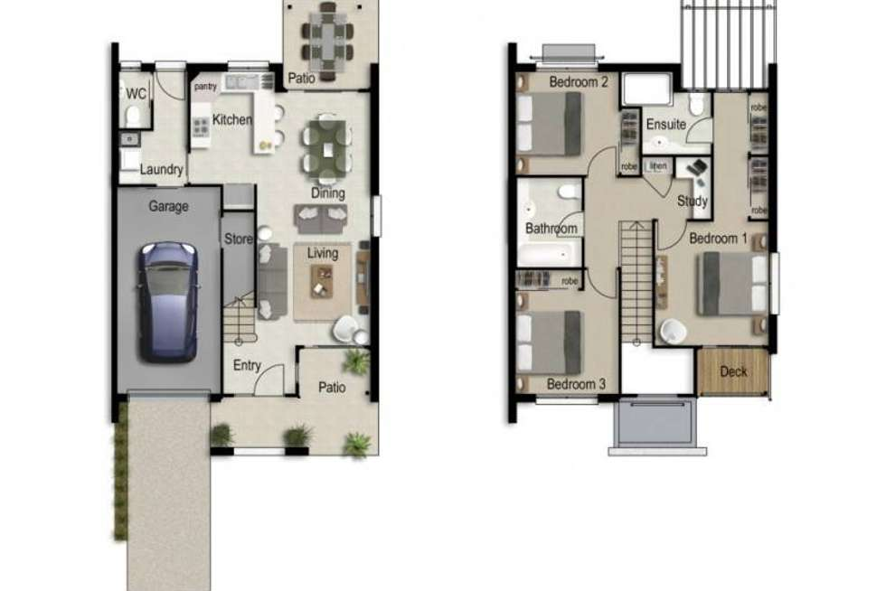 Floorplan of Homely townhouse listing, 28/2-24 Macarthy Road, Marsden QLD 4132