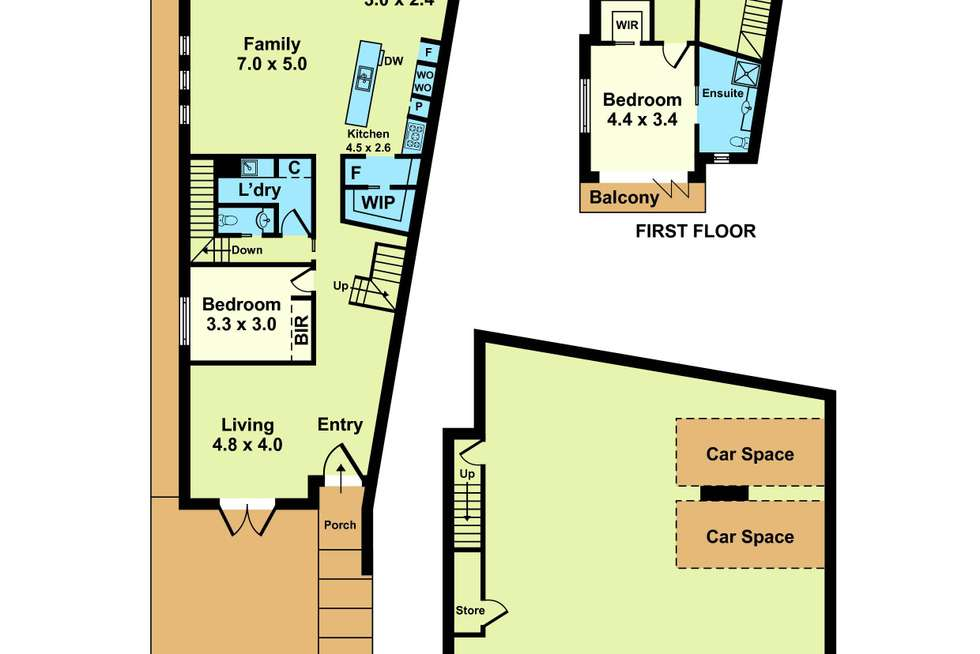 Floorplan of Homely house listing, 2/40 Anzac Crescent, Williamstown VIC 3016