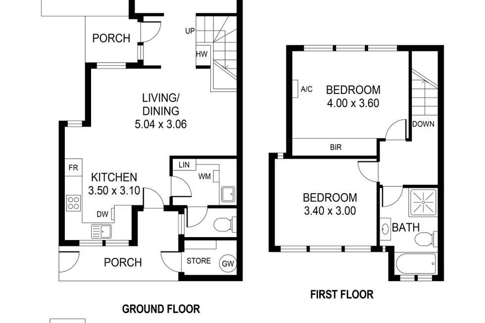 Floorplan of Homely townhouse listing, 8/214 Payneham Road, Evandale SA 5069