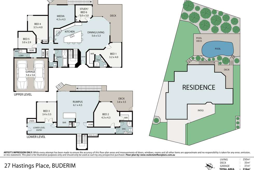 Floorplan of Homely house listing, 27 Hastings Place, Buderim QLD 4556