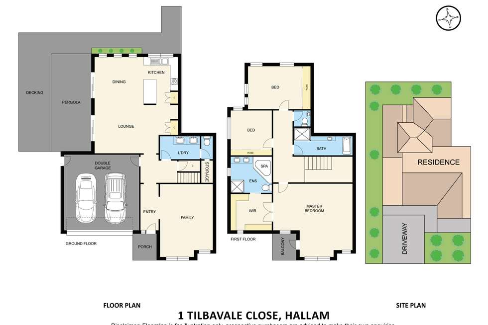Floorplan of Homely house listing, 1 Tilbavale Close, Hallam VIC 3803