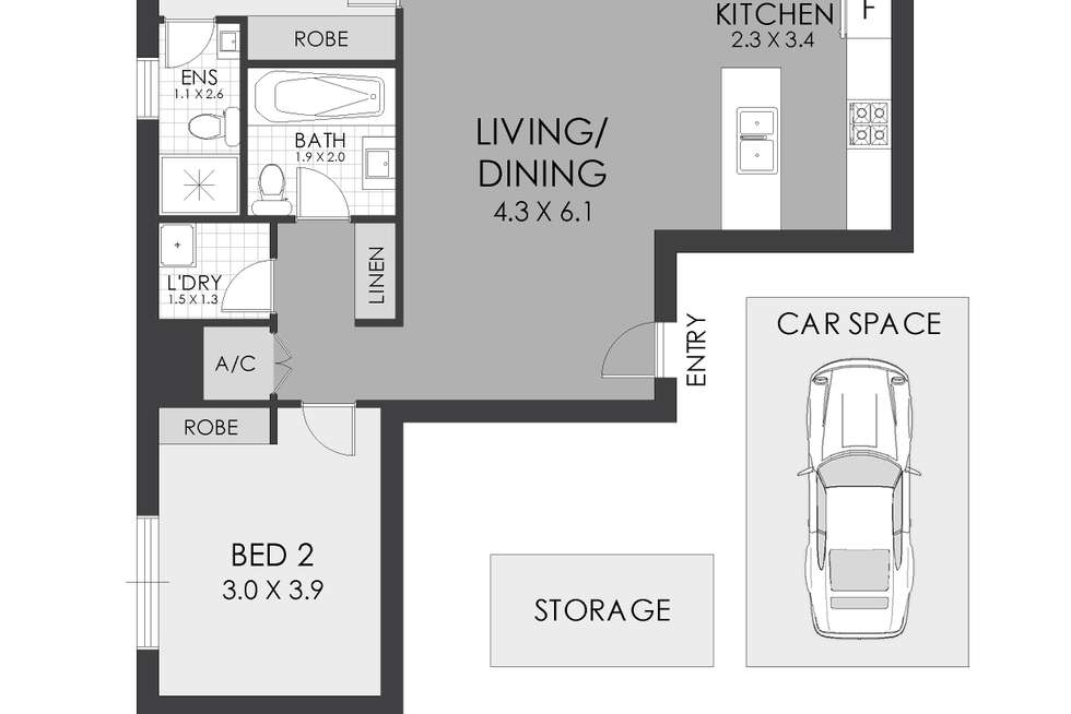 Floorplan of Homely apartment listing, 1001/29 Hunter Street, Parramatta NSW 2150