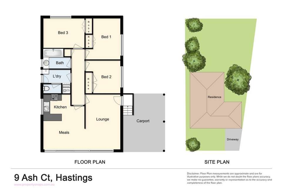 Floorplan of Homely house listing, 9 Ash Court, Hastings VIC 3915