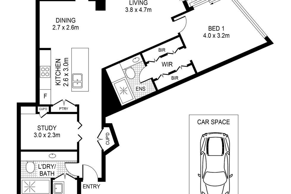Floorplan of Homely apartment listing, 801/23 Shelley Street, Sydney NSW 2000