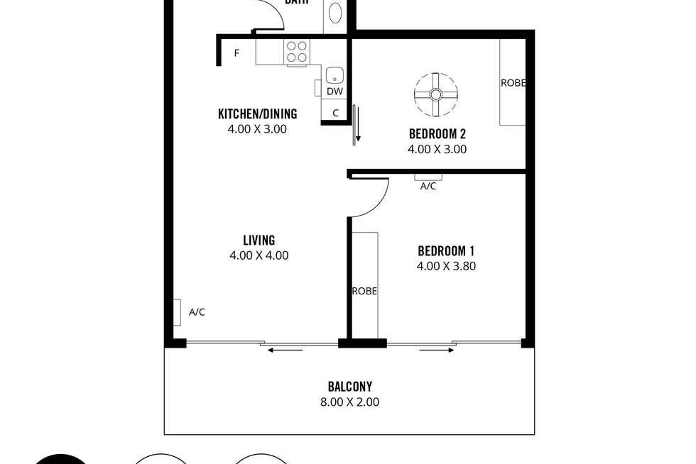 Floorplan of Homely apartment listing, 710/185 Morphett Street, Adelaide SA 5000