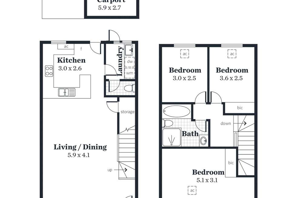 Floorplan of Homely townhouse listing, 4 Ashley Place, Ridleyton SA 5008