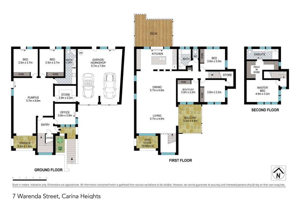 Floorplan of Homely house listing, 7 Warenda Street, Carina Heights QLD 4152