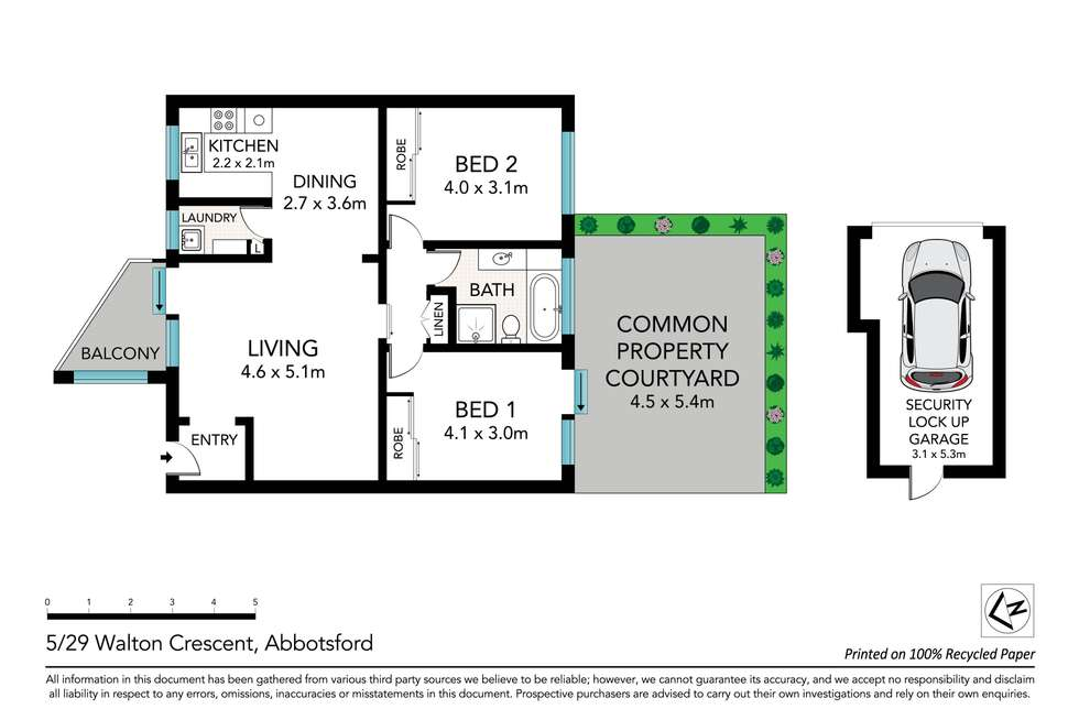 Floorplan of Homely unit listing, 5/29 Walton Crescent, Abbotsford NSW 2046