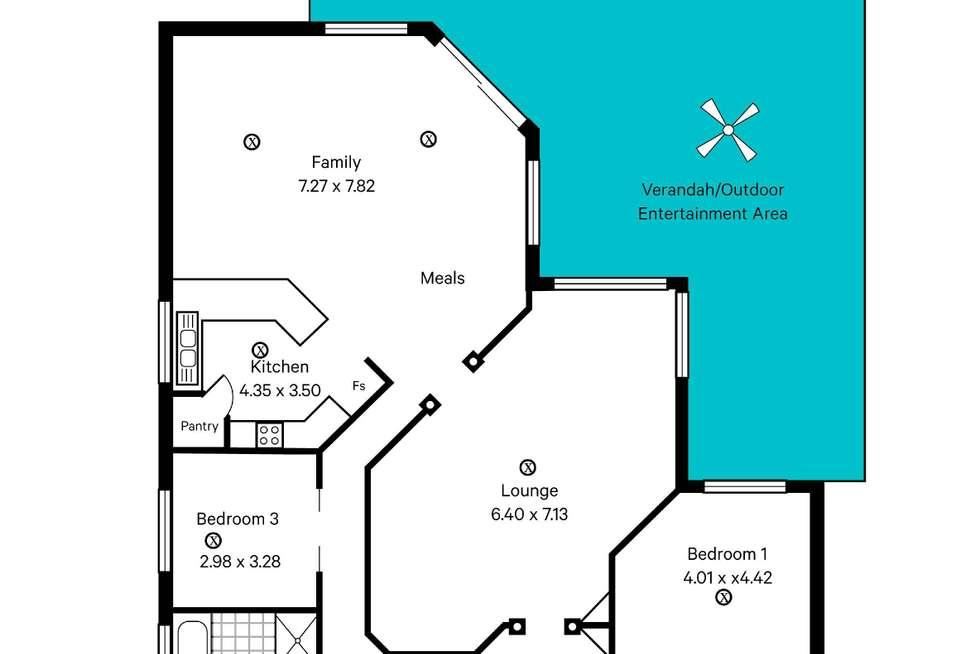 Floorplan of Homely house listing, 16 Yeelanna Avenue, Seaview Downs SA 5049