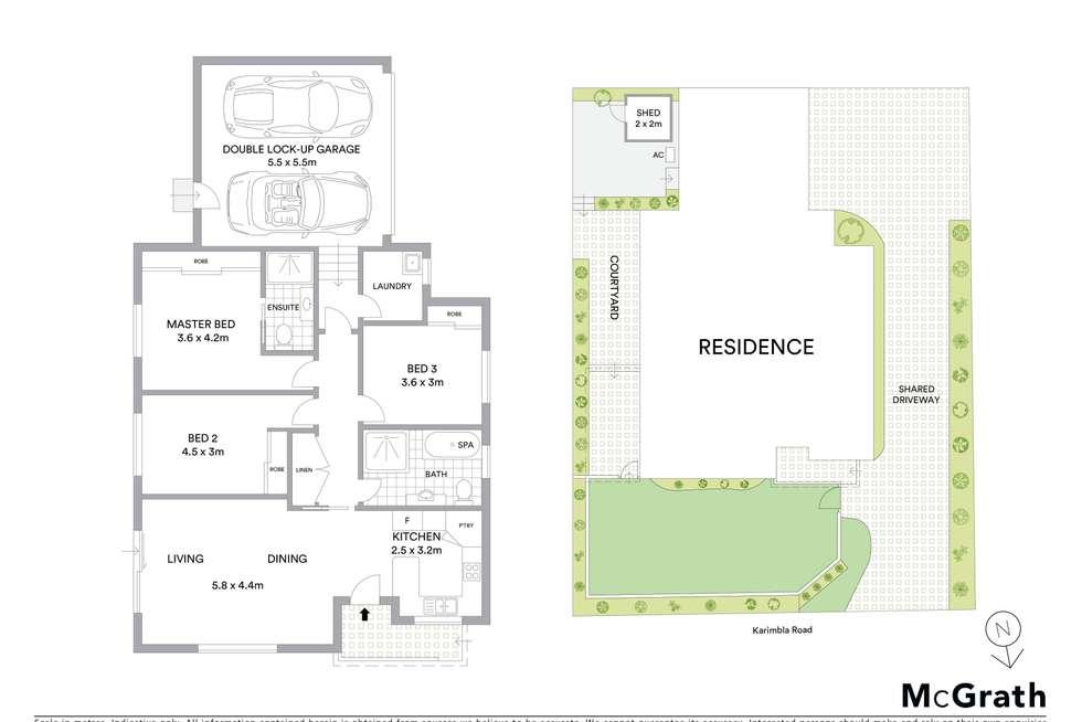 Floorplan of Homely villa listing, 1/148 Karimbla Road, Miranda NSW 2228