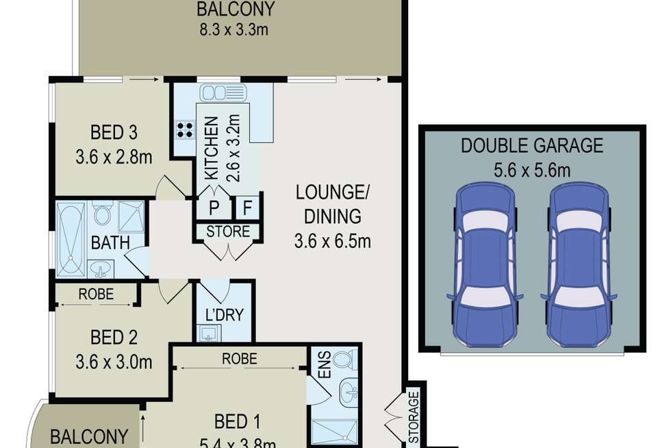 Floorplan of Homely unit listing, 5/12-16 Blaxcell Street, Granville NSW 2142