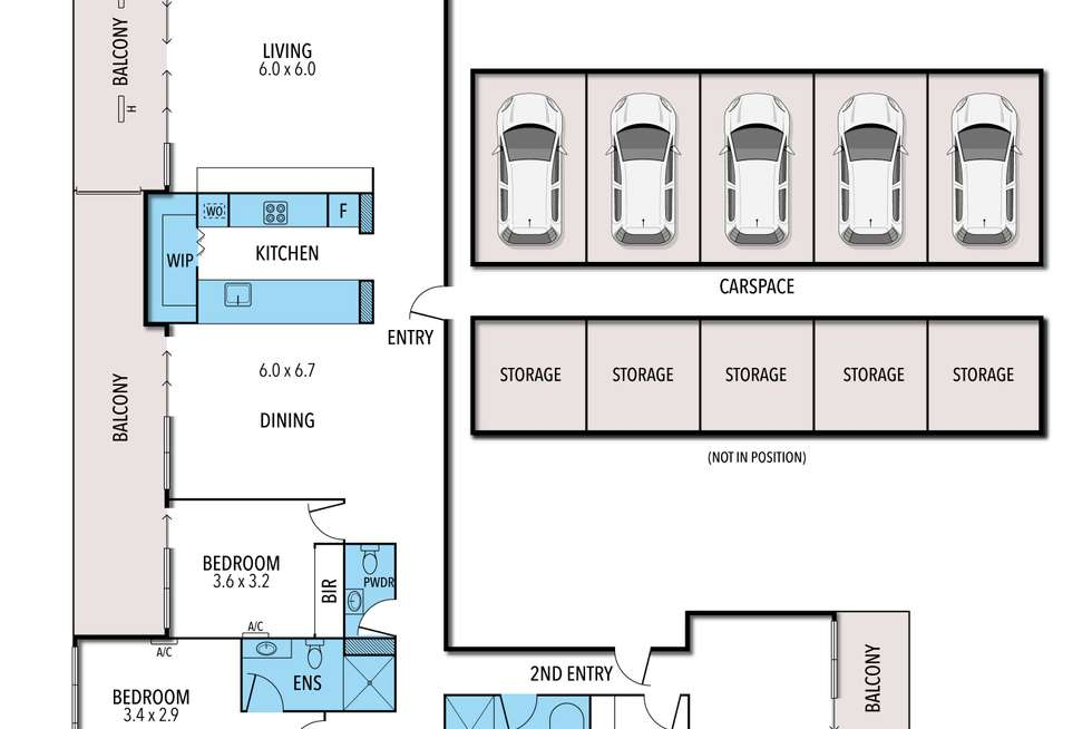 Floorplan of Homely apartment listing, 388 Spencer Street, Melbourne VIC 3000