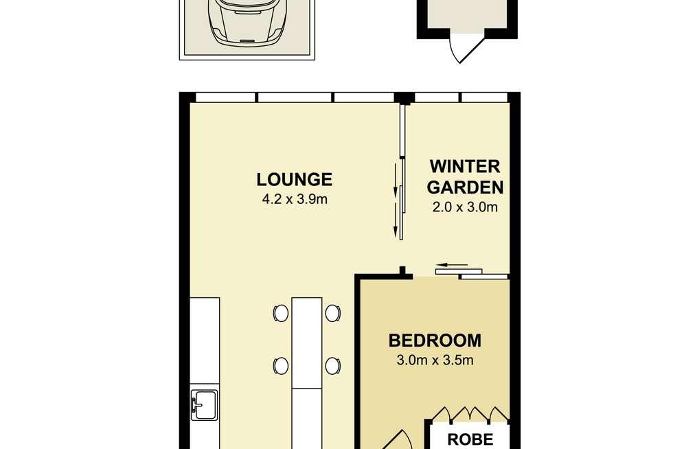 Floorplan of Homely apartment listing, 305/116 Belmont Road, Mosman NSW 2088