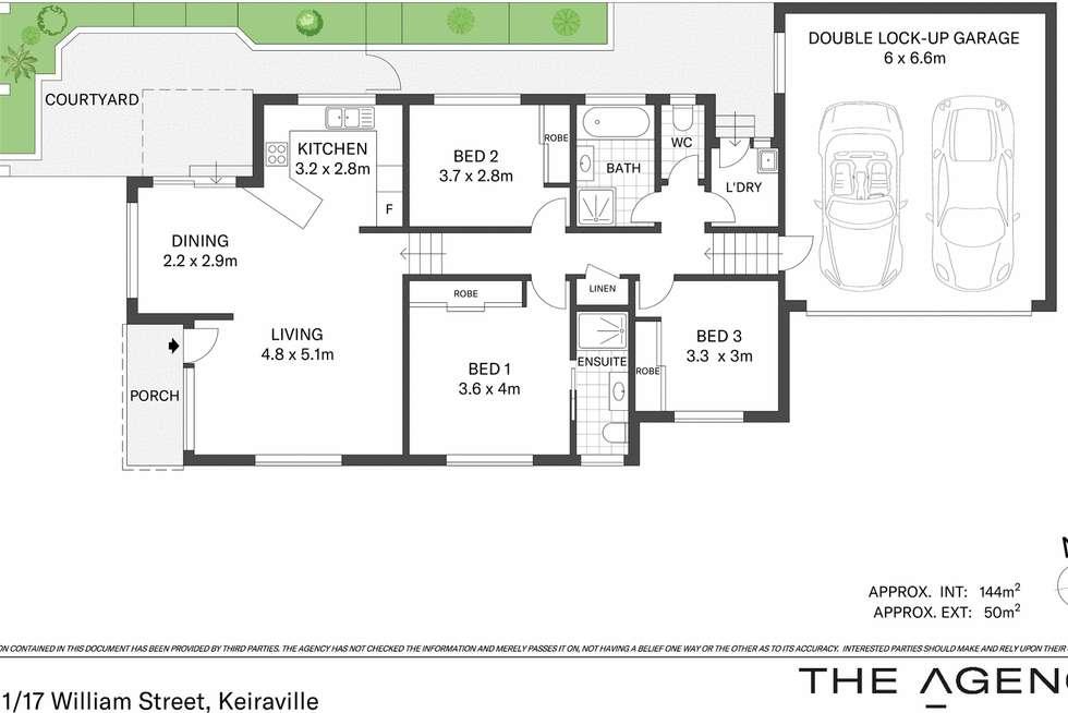 Floorplan of Homely villa listing, 1/17 William Street, Keiraville NSW 2500