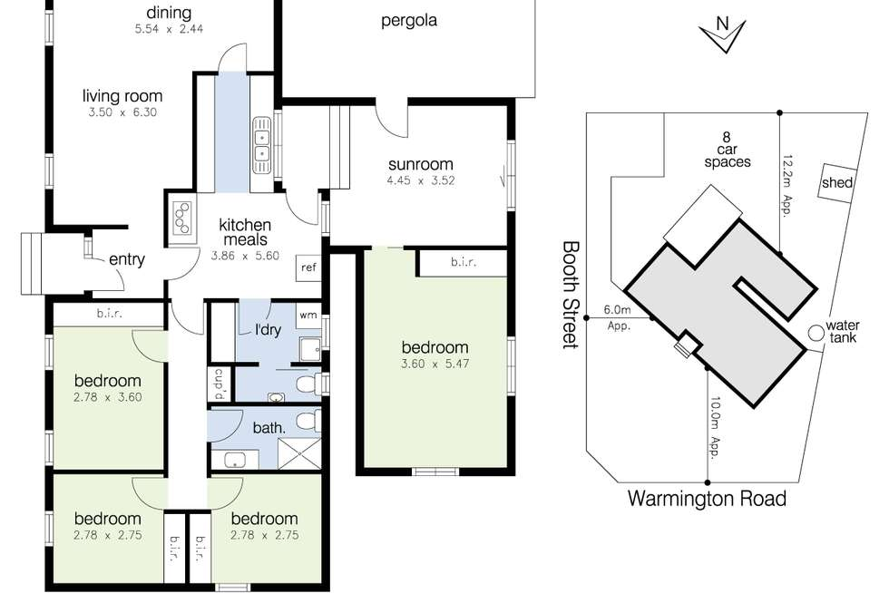 Floorplan of Homely house listing, 45 Warmington Road, Sunshine West VIC 3020