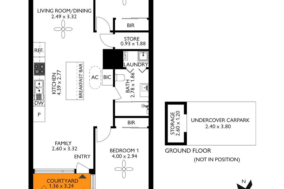Floorplan of Homely apartment listing, 307/1 Kevin Taylor Lane, Bowden SA 5007