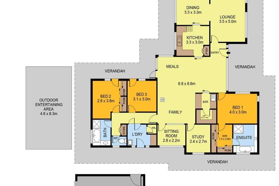 Floorplan of Homely house listing, 242 Nankervis Road, Mandurang VIC 3551