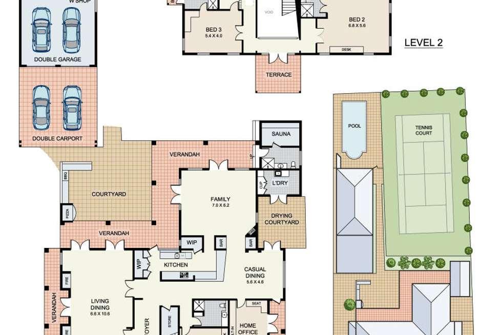 Floorplan of Homely house listing, 32-34 Barker Road, Strathfield NSW 2135