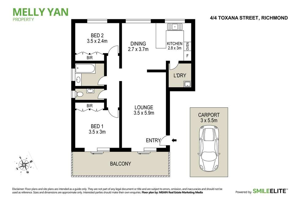 Floorplan of Homely unit listing, 4/4 Toxana Street, Richmond NSW 2753