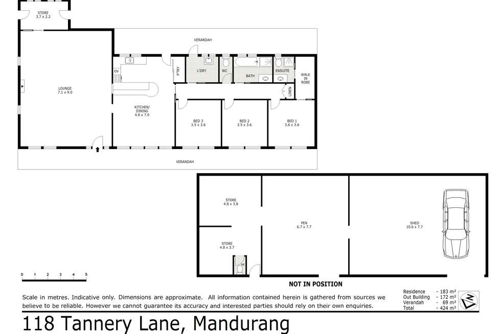 Floorplan of Homely house listing, 118 Tannery Lane, Mandurang VIC 3551