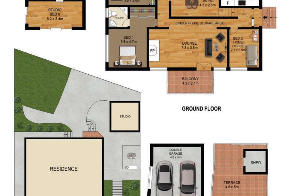 Floorplan of Homely house listing, 3 Larra Crescent, North Rocks NSW 2151