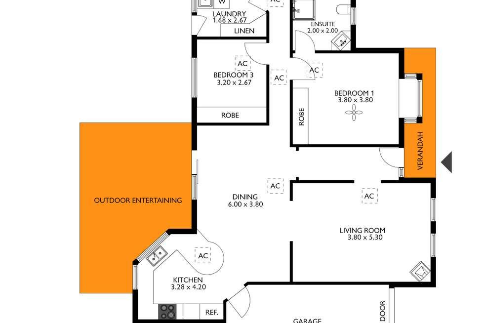 Floorplan of Homely house listing, 13A Gilding Avenue, Royston Park SA 5070