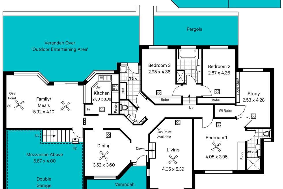 Floorplan of Homely house listing, 22 Wandilla Street, Seaview Downs SA 5049