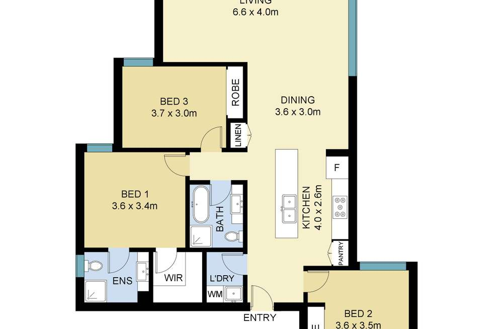 Floorplan of Homely apartment listing, 12/19-21 Kembla Street, Wollongong NSW 2500