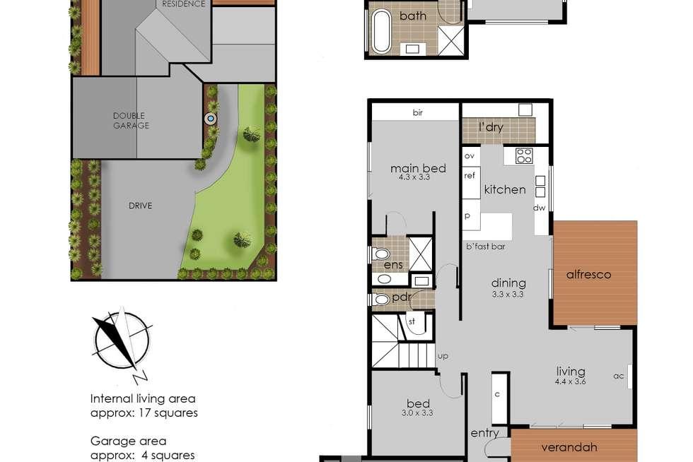 Floorplan of Homely house listing, 12 Ti Tree Grove, Mornington VIC 3931