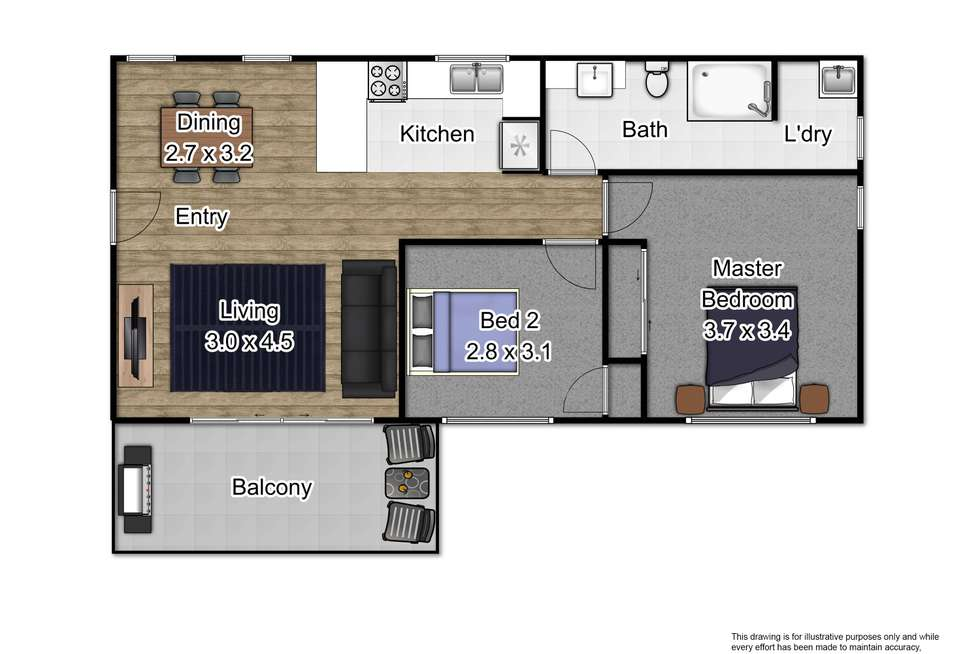 Floorplan of Homely apartment listing, 11/27 Police Road, Mulgrave VIC 3170