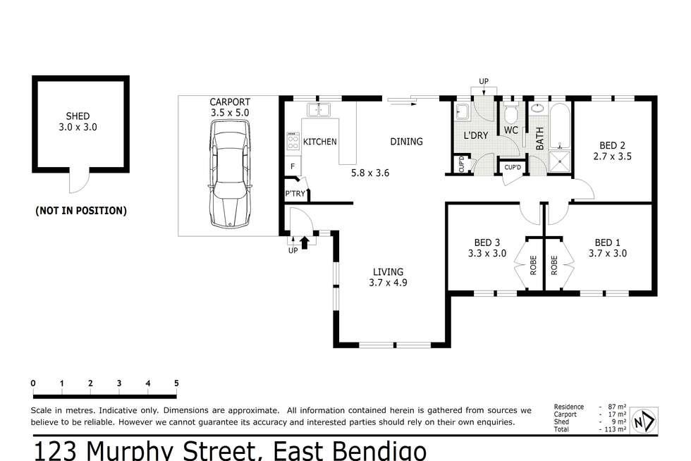 Floorplan of Homely house listing, 123 Murphy Street, East Bendigo VIC 3550